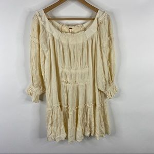 Free People Dress See Ya There Mini Boho Ruffle